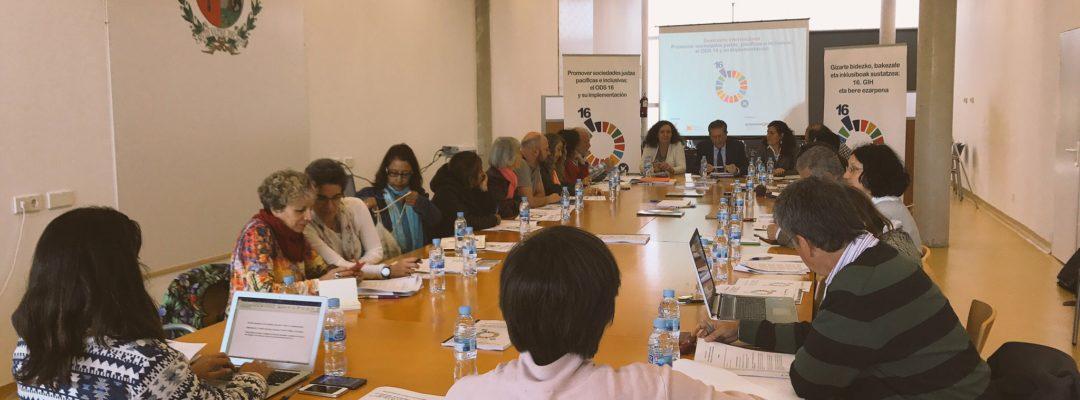 """Seminario """"Promover sociedades justas, pacíficas e inclusivas: el ODS 16 y su implementación"""" en Madrid"""